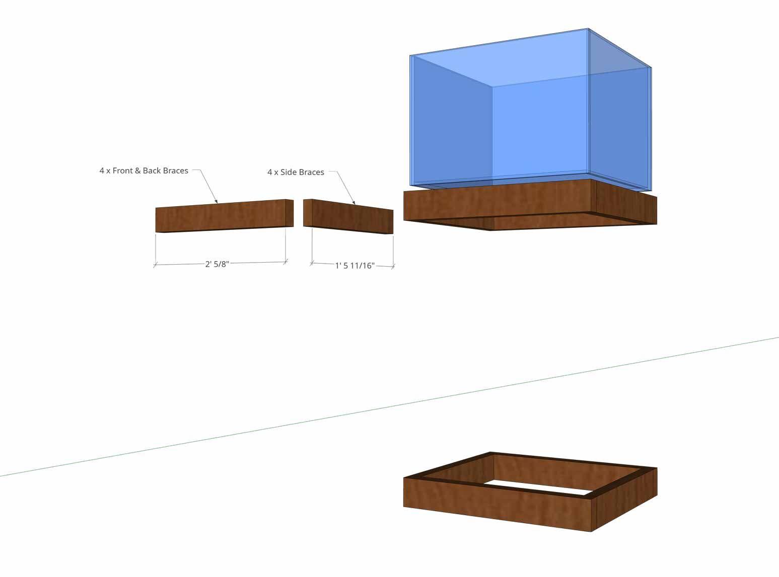 Aquarium Stand - Upper & Lower Frames